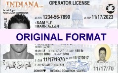INDIANA  DRIVER LICENSE INDIANA FAKE ID CARD SCANNABLE INDIANA FAKE ID