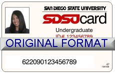 SAN DIEGO UNIVERSITY DRIVER LICENSE ORIGINAL FORMAT, DESIGN SPECIFICATIONS, NOVELTY SECURITY CARD PROFILES, IDENTITY, NEW SOFTWARE ID SOFTWARE