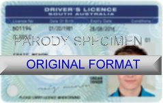SOUTH AUSTRALIA DRIVER LICENSE ORIGINAL FORMAT, DESIGN SPECIFICATIONS, NOVELTY SECURITY CARD PROFILES, IDENTITY, NEW SOFTWARE ID SOFTWARE