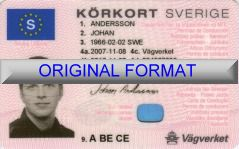 SVERIGE kör|kort  ORIGINAL FORMAT, DESIGN SPECIFICATIONS, NOVELTY SECURITY CARD PROFILES, IDENTITY, NEW SOFTWARE ID SOFTWARE